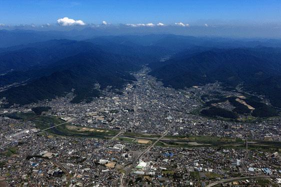 写真:桐生市の航空写真